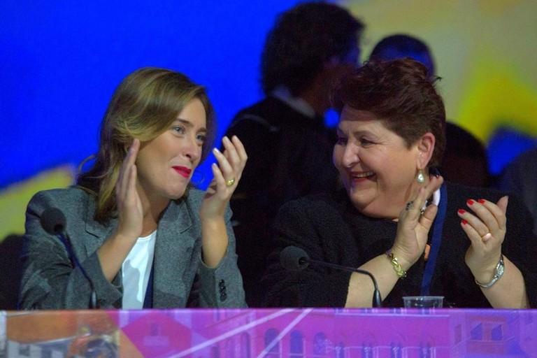 Bellanova e Boschi allassemblea di Italia Viva
