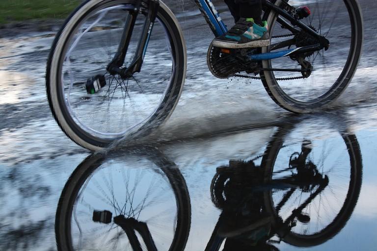 bicicletta pioggia