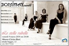 """Stasera al Museo civico di Bari l'ensemble Dominae col concerto """"Le Stelle Rubelle"""""""