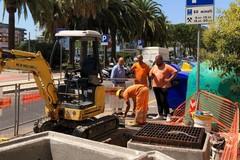 Estensione della fogna bianca in viale Di Vittorio, partiti i lavori. Appalto da 230mila euro