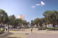 Più verde, nuove panchine e giostrine anche per disabili, ecco la nuova piazzetta dei Papi a Bari