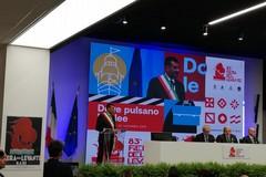 Il sindaco Decaro e il governatore Emiliano all'inaugurazione della Fiera