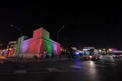 Bari vecchia, la muraglia si accende con l'illuminazione artistica