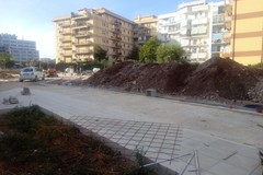 Bari, ripresi i lavori a parco Tridente. Si prosegue con la pavimentazione