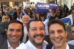 Matteo Salvini a Bari, visita al quartiere Libertà