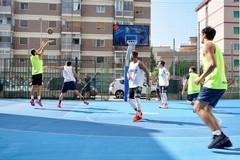 A Bari due campi da basket realizzati con la gomma degli pneumatici in disuso