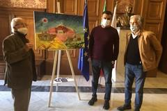 L'artista Fernando Capobianco dona una quadro alla città di Bari