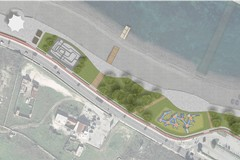Costa Sud come una piazza sul mare con sabbia, aree verdi e chioschi per l'intrattenimento