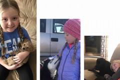 Bari, l'appello per Emma, 7 anni e un cancro al cervello: «Fate mandare una lettera dal vostro cane»