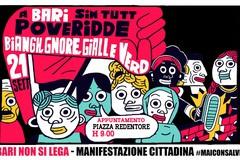 """#BariNonSiLega, al Redentore presidio """"contro"""" la visita di Salvini"""