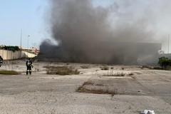 Palo del Colle, incendio in uno stabilimento industriale. Intervengono i Vigili del fuoco