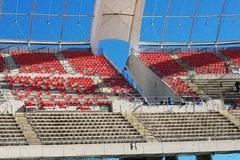 I nuovi seggiolini in tribuna est