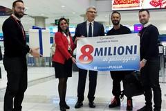 Aeroporti di Puglia festeggia il record di 8 milioni di passeggeri