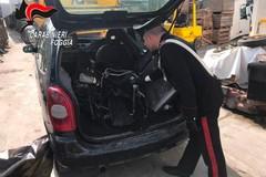 Cerignola, trasportava pezzi di auto rubata a Bari. Denunciato 19enne