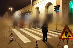 """Bari """"open space"""", partiti i lavori per la pista ciclabile """"light"""" in corso Vittorio Emanuele"""