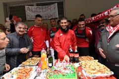 SSC Bari, grande festa per il Brienza day: «Qui tanto amore. Posso solo ringraziare»