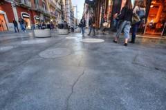 """Problemi alla pavimentazione di via Sparano. Crepe nel salotto """"Liberty"""""""