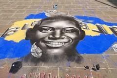 Un disegno in strada per Willy, Bari ricorda il ragazzo ucciso a Colleferro