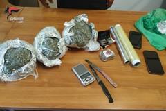 Sorpreso con 750 grammi di marijuana: arrestato 24enne in provincia di Bari