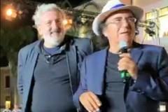 Al Bano canta per il personale del Policlinico di Bari, anche Emiliano sul palco