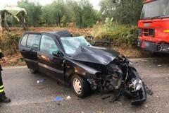 Scontro frontale in provincia di Bari, morte mamma e figlia