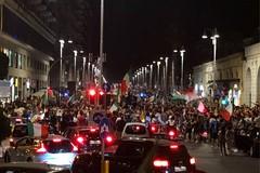 Bari, i festeggiamenti in centro per la vittoria degli europei