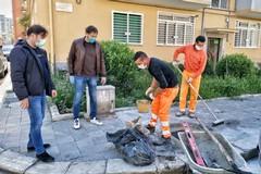Mercato di via Pitagora pronto a riaprire, in corso manutenzione della fogna