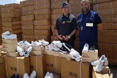 Porto di Bari, sequestrate oltre seimila paia di finte scarpe Fila