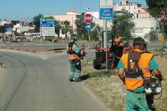 La Città Metropolitana taglia l'erba lungo le strade provinciali