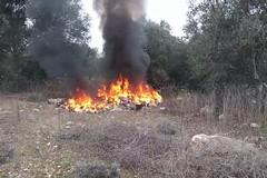 Mungivacca, ignoti incendiano rifiuti in campagna