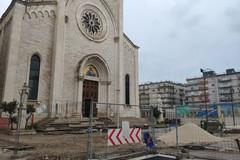 Piazza del Redentore ancora cantiere aperto, sarà pronta a maggio