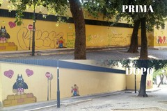 Bari, Retake pulisce il murale di Pao ma cancella parte dell'opera