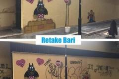 Bari, Retake: «Impossibile salvare il tag con quelle scritte sopra»
