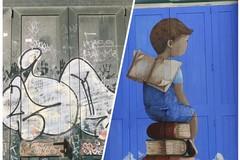 Provincia di Bari, l'arte contro il degrado sui portoni della scuola Marconi a Casamassima