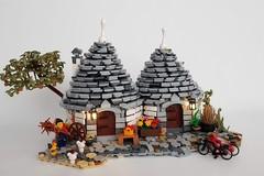 I Trulli di Alberobello trasformati in un set Lego, l'idea di Roberto di Bari