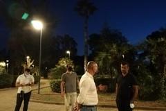 Bari, si accendono le luci nella pineta San Francesco lato terra. Ora la pista di hockey