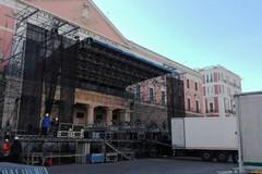 Capodanno in musica a Bari, domani inizia il montaggio del palco in piazza Libertà