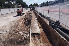 Bari, cantiere di via Amendola tra guasti e nuove opere