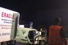 Bari, tir contro furgone, incidente al San Paolo