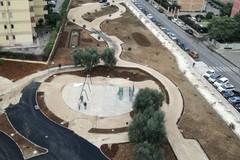 Bari, parco Tridente: ecco le prime altalene
