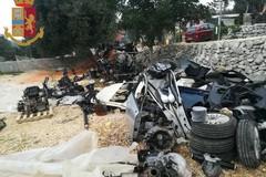 Auto smontate e pezzi rivenduti, individuata centrale di riciclaggio a Monopoli