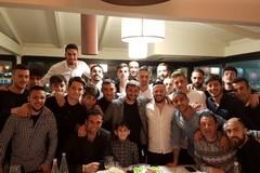 SSC Bari, la sorpresa di compagni e staff per i quarant'anni di Brienza