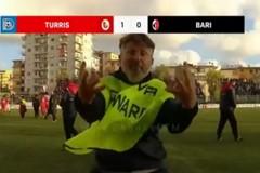 """Insultò i tifosi del Bari davanti alle telecamere, daspo per lo steward della Turris """"Malatella"""""""