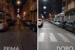 Bari, nuova pubblica illuminazione al Libertà. Iniziata l'installazione