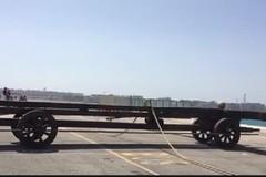 Porto di Bari, in anteprima mondiale il lancio con la balestra gigante di Leonardo da Vinci