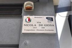 Nicola De Giosa, scoperta nuova targa a Bari