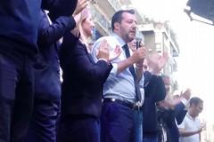 Matteo Salvini, il comizio a Bari
