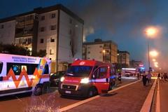 Bari, paura a San Pio a fuoco un appartamento