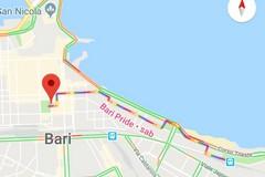Bari pride 2019, su Google maps il percorso contrassegnato con i colori arcobaleno