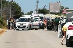 Grave incidente tra Adelfia e Bari, auto ribaltata
